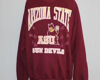 Vintage Arizona State Sun Devils NCAA Crewneck Sweatshirt M