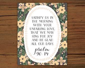 Psalm 90:14 Print