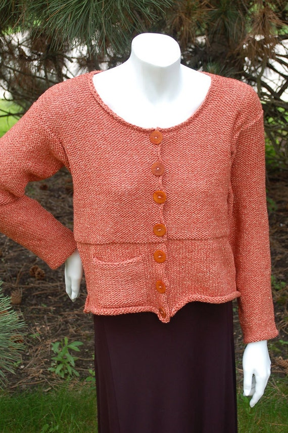 Womens Cardigan Knitting Pattern Hand Knit Cardigan