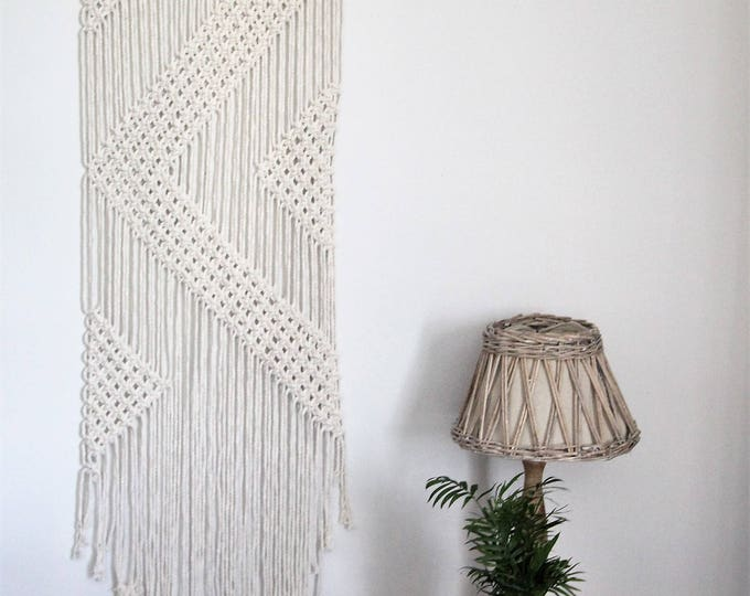 Large Handmade wall hanging / macrame / shabby chic decor / original wall hanging / bohemian / nautical nursery