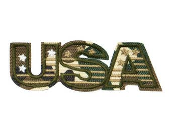 Free Shipping! USA military Embroidered Iron-On Patch, Embroidery Applique
