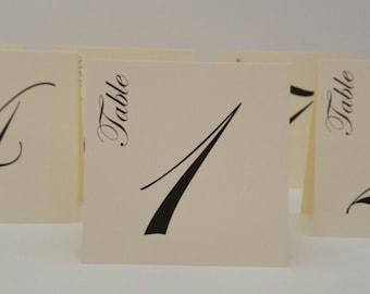 Wedding Table Number Tent Design Elegant Script Font and Large Size Design for Your Wedding Reception Table Top Decor