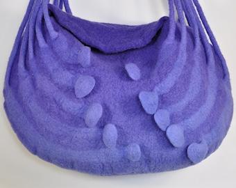 Mano Felted Bag, borsa a tracolla, indaco, lana Merino, zillion fibre