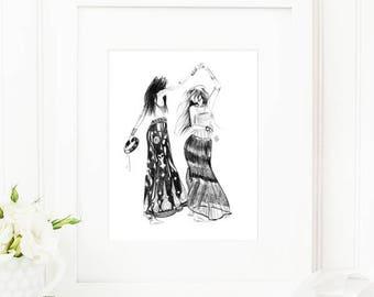 Tribe • Fashion Illustration | Glicée Art Print | Wall Art | Fashion Art