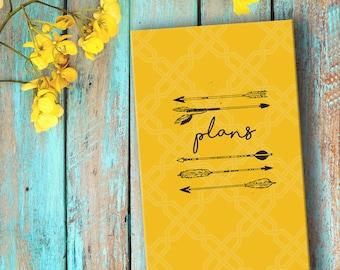 Plans: Regular Yellow Notebook