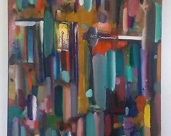 3 Foot Elevation - An Original Abstract Oil Painting