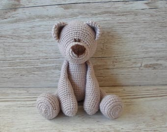 Pink Teddy Bear, Crochet Teddy Bear, Pale Pink, Baby Shower Gift, New Baby Gift, Birthday