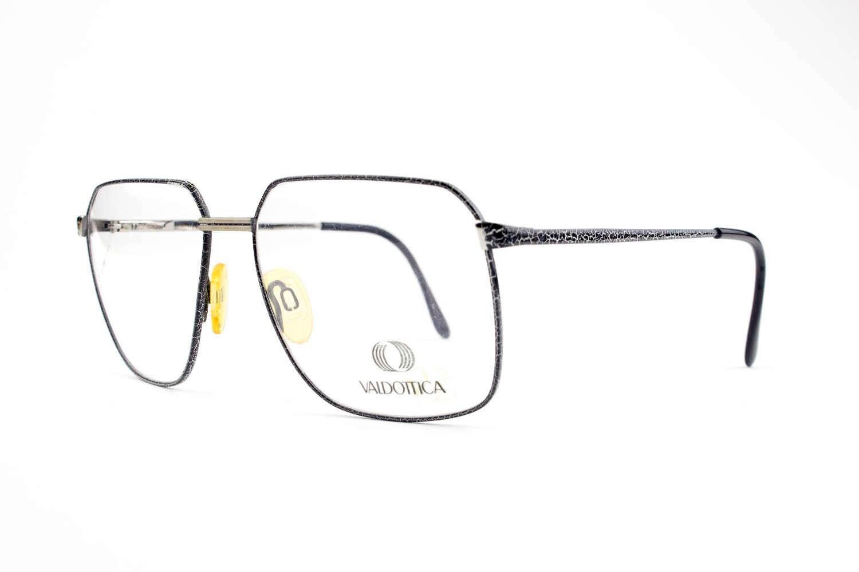 Gafas Vintage años 80 Blanco y negro crujido gafas Montura
