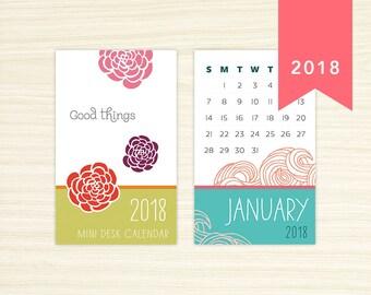 2018 Mini Desk Calendar - Good Things
