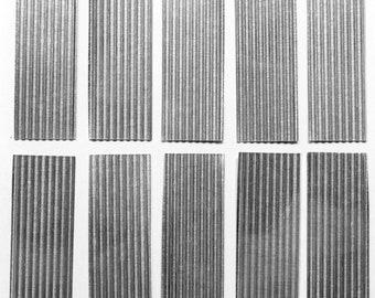 OO Model Railway Corrugated Metal Panels 40 by 15mm 10ft Sheet Aluminium BULK PACK Quantities