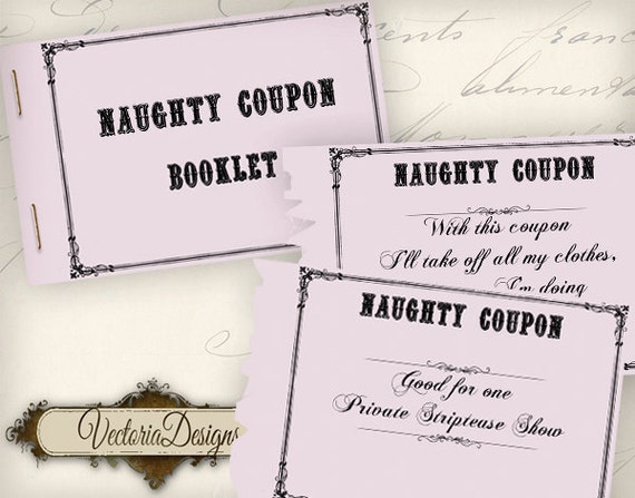 Printable Naughty Coupon Book printable man gift printable women gift for  men instant download digital collage sheet - VD0604