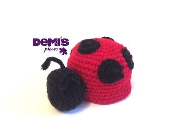 Crochet Stuffed Ladybug