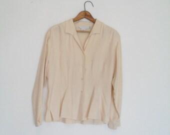vintage 90s vintage silk blouse xs-s
