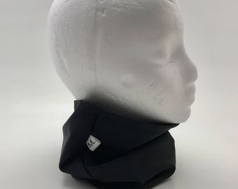 Neck, black, gray, double neck warmer