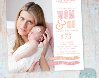 Mother's Day Template Mini Session - Photoshop Template IM013 - INSTANT DOWNLOAD