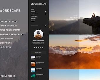WordScape - A Photo-Centric WordPress Blog Theme