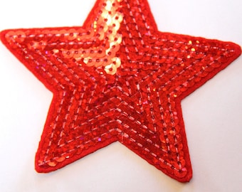 STAR SPANGLE RED FUSIBLE APPLIQUE
