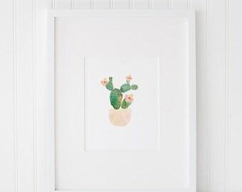 Cactus Watercolor Printable Art, Succulent Print, Instant Download, Watercolor Cactus, Cactus Print, Watercolor Printable, Watercolor Art