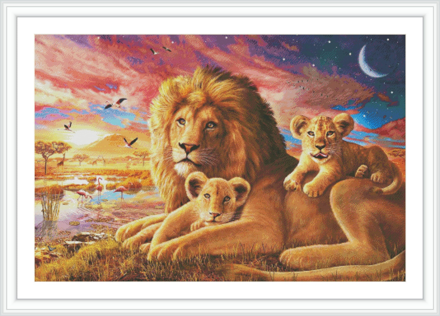 Lion Counted Cross Stitch Pattern Large Cross Stitch Chart