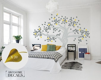 Large Wall Decals - Living Room Decal - Custom Wall Decals - Tree Wall Decal - Vinyl Wall Decals - Awesome decals / 007a