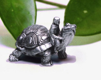"Tooth Fairy Box, Pewter ""On A Whim'' Tortoise"