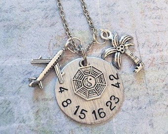 Lost TV Show Numbers Inspired Deluxe Necklace - Fandom Jewelry