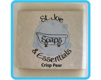 Crisp Pear Soap, Handmade Soap, All Natural Soap, Organic Saponified Olive Oil, Coconut Oil, Shea Butter, Fragrance Oil