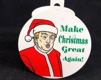 Funny Christmas Trump Ornament