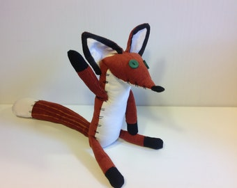Fox le petit prince the little prince fox plush little toy fantasy fox stuffed cartoon fox orange renard  22cm