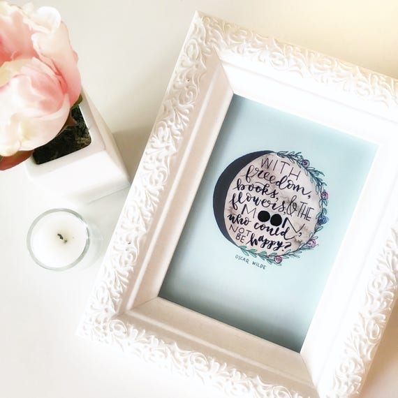 Literary Print * Library Decor * Watercolor & Handlettered Art * Gifts for Booklovers