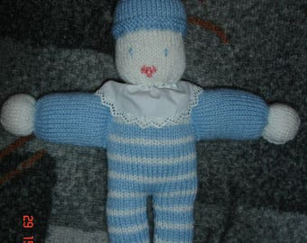 Pixie blanket blue and white