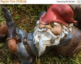 SALE Garden Gnome Figurine, Gnome Napping, Style 4460, Home & Garden Decor, Shelf Sitter, Topper, Sleeping Gnome