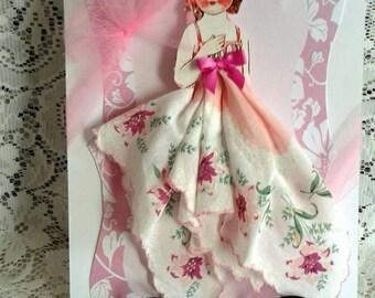 Lynn Dolly Dingle Hankie Card