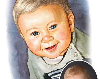 Personalized Watercolour Portrait From Your Photos / Watercolor Paintings / Custom Illustrations / Watercolour Paintings / Family Portraits