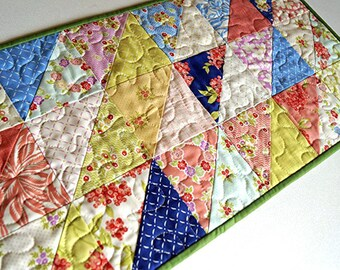 Tropical Floral Quilted Patchwork Table Runner
