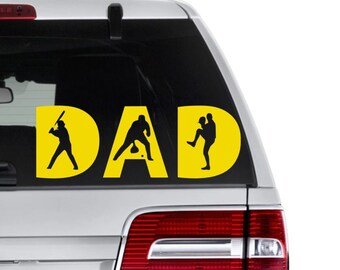 Baseball Dad Decal, Dad Decal, Sports Decal, Baseball Decal, Vinyl Decal
