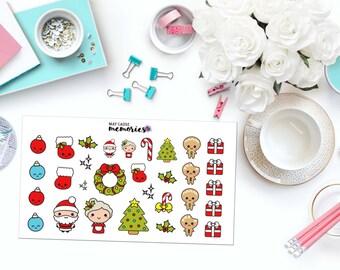 KAWAII Noël papier Planner Stickers!