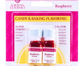Raspberry Candy Flavor, LorAnn Raspberry Candy Flavoring, Raspberry Hard Candy Flavoring, Candy Making, Baking Flavors (twin pack)