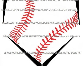 Baseball Home Plate Baseball Stripes SVG