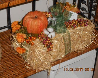 Hay Bale fall accent, centerpiece
