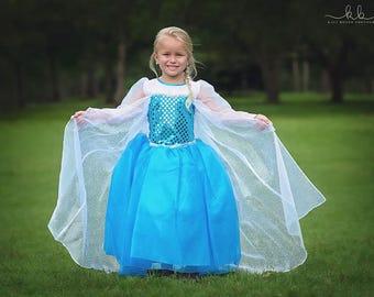 Elsa Dress / Disney Princess Inspired Frozen Elsa Costume - Kids, Girls, Toddler, Child