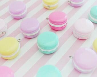 26mm Pastel Macaron Charms - set of 5