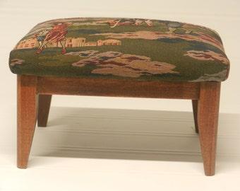 Solid Wood Footstool