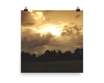 Original Arkansas Cloud Photo paper poster