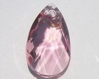 Swarovski Elements Crystal Pendant  crystal Pear 6106 Pendant -- LIGHT ROSE pink 16mm and  22mm
