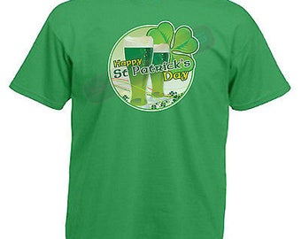 Happy st patricks day irish drinking adults mens t shirt size s - 3xl