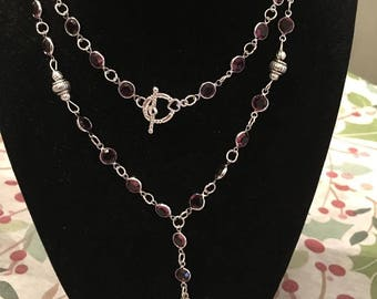 36 in rosary sty;e necklace