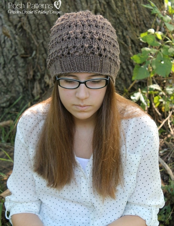 Knitting PATTERN - Hat Knitting Patterns - Knit Hat Pattern ...