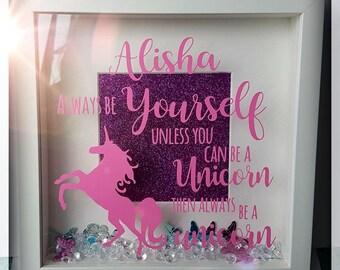 Personalised unicorn frame