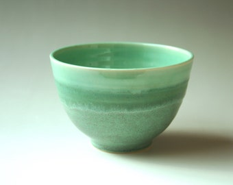 Bright teal bowl